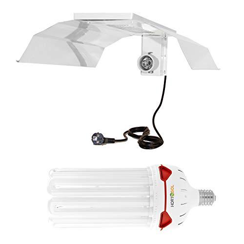 HORTOSOL Kit 200w CFL 6400k croissance Ampoule eco + Réflecteur