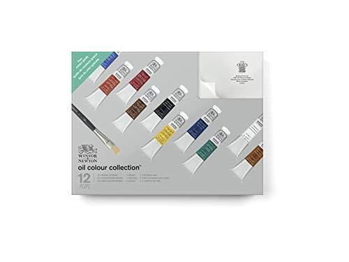 Winsor & Newton 1490621 Winton Oil Colour Collection, Ölfarbe Geschenkset, 12 Stück
