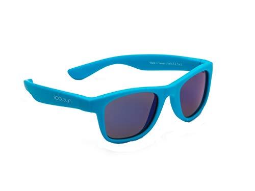 koolsun bebés y niños gafas de sol Wave Fashion 1 +, 100% protección UV, Azul Neon, 1-5 años