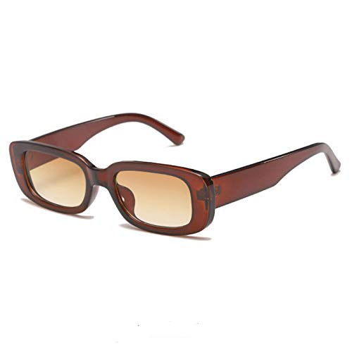 Gafas De Sol Nuevas Gafas De Sol Vintage De Moda para Mujer, Gafas De Sol Retro Rectangulares De Diseñador De Marca, Gafas De Sol para Mujer Uv400, Gafas 06Tea-Tea
