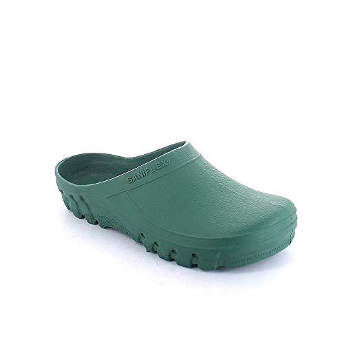 SANIFLEX 46 Chanclas de goma verde Zueco jardín Verde Size: 41/42 EU