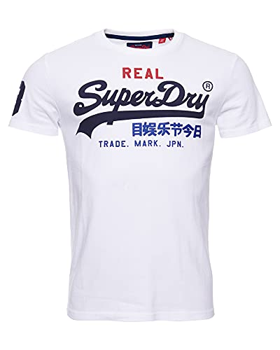 Superdry Vintage Logo Tri tee Camiseta de Tirantes, Blanco (Optic 01C), XL para Hombre
