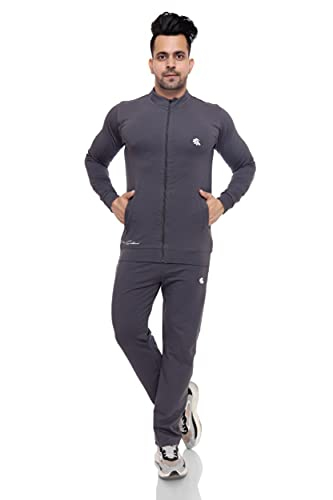 GALLUS Men's Cotton Terry Ative Wear Tracksuit