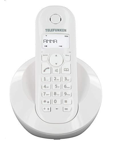 Telefunken TB201 PEPS Telefone (schnurlos, Display), Weiß