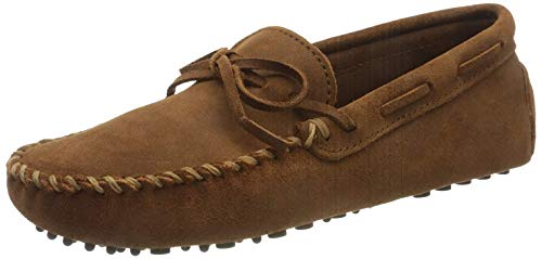 Minnetonka Driving Moc, Herren Mokassins, Braun (Brown), 41 EU