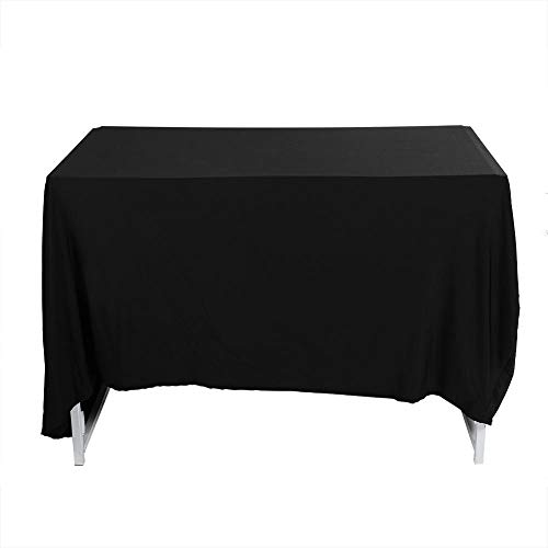 Lash Bed Cover, Zwart Multifunctioneel Bruiloftspartij Buitenspa Salon Rechthoekig Tafelkleed, Zacht En Elastisch Polyester Schoonheid Bed Rokhoezen