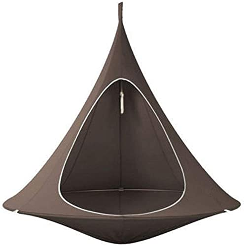 Silla de hamaca portátil Colgando Tienda Tienda Tienda Swing Show Schook Nizz Nest Hamaca de asiento colgante Para Interior al aire libre, ideal para niños, capacidad máxima de 200 kg,Marrón,180*150CM