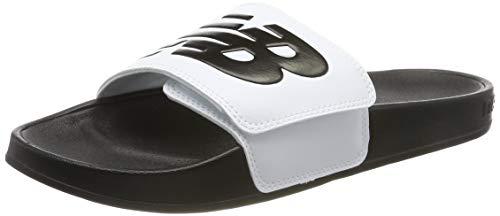 New Balance Herren 200 Adjustable Riemchensandalen, White White Black White Black, 42.5