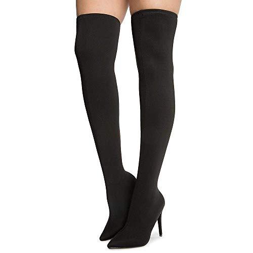 Spandex Black Thigh High Boot