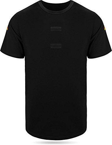 Gear Up BW Tropen Unterhemd mit Klett und Nationalitätsabzeichen Neu Bundeswehr T-Shirt Farbe Schwarz Größe 11/4XL