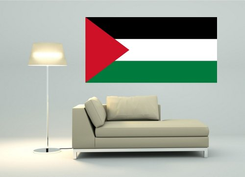 Kiwistar Wandtattoo Sticker Fahne Flagge Aufkleber Palästina 120 x 60cm