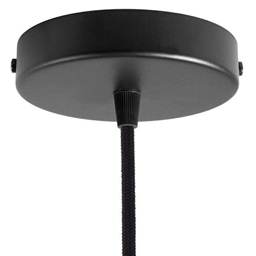 creative cables Zylindrischer Lampenbaldachin Kit aus Metall - Mattschwarz