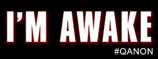 American Vinyl I'm Awake Bumper Sticker (# qanon q anon Trump Hashtag Awakening)