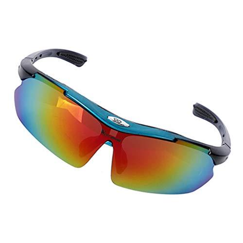 sharprepublic Ciclismo Gafas de Sol Ciclismo Gafas de Motocicleta para Hombres Mujeres Deportes Protección UV - Rojo