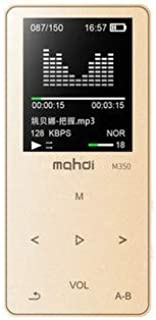 WZY Sports MP3 MP4 Music Player Mini Student Walkman with Screen Card Voice Recorder, Memory Size:8GB(White) (Color : Gold)