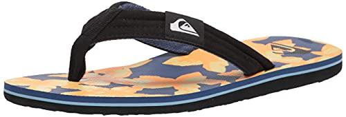 Quiksilver Men's Molokai Layback Sandal, Blue/Yellow/Blue, 9