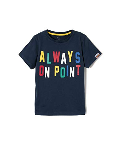 ZIPPY ZB0304_455_10 Camiseta, Azul (Dress Blue 185), (Tamaño del Fabricante:3/4) para Niños