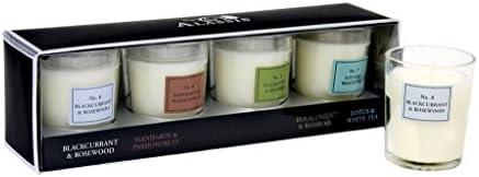 Alassis 4 pc Votive Set Honeysuckle Amber Vanilla Seagrass Musk Fig Violet Leaves product image