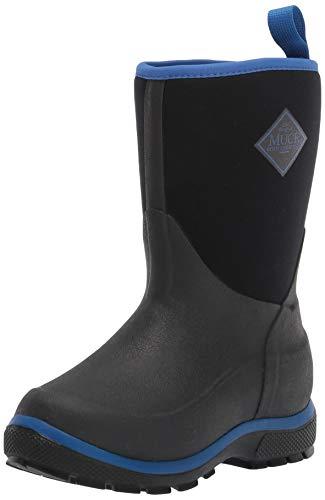Muck Boot Snow Boot, Black/Blue, 1 US Unisex Big Kid