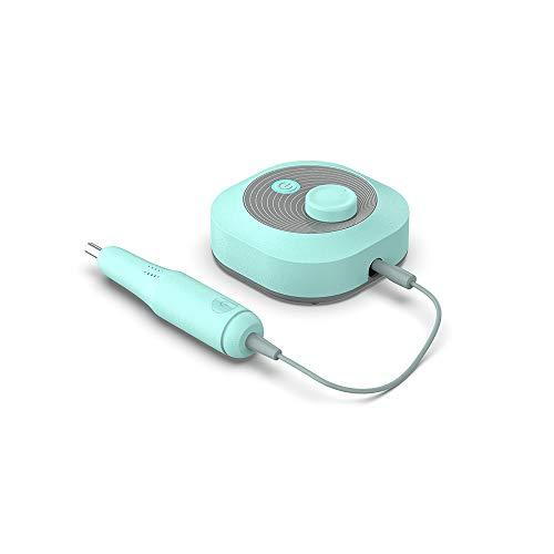 CHENC Nagelboormachine, draagbare professionele oplaadbare elektrische nagel-kunst-boormachine 25000 tpm voor het polijsten van acrylgel of thuis, groen