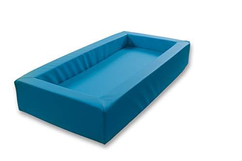 Krippenbett Picco, Weichschaumbett 120x60x20cm, Bezug: Kunstleder Blau