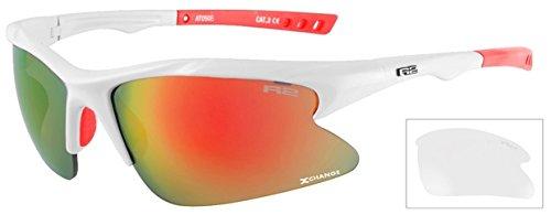 R2 Damen Sportbrille Radbrille Mission mit Wechselgläser + ETUI