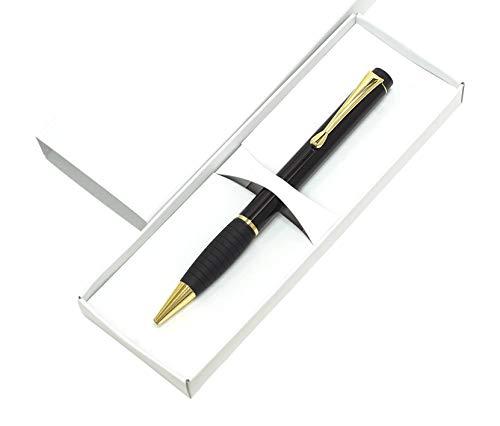 ミッドナイトラバー回転ボールペン 5本パック 化粧箱入 黒1.0ミリ芯 真鍮製回転式ラバーグリップ付ボールペンの元祖 金属金メッキパーツを含む 黒 K2-T102BP-5-B