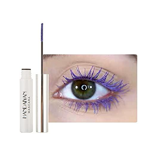 GL-Turelifes 12 Color Mascara Bunte Fasermascara Charmante, langlebige Mascara mit dicken und langen Wimpern, wasserdicht und wischfest (Violett)