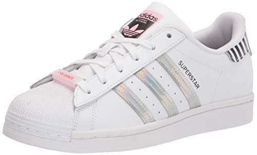adidas Originals Women's Superstar Bold Shoes Sneaker, White/True Pink/Black, 6.5