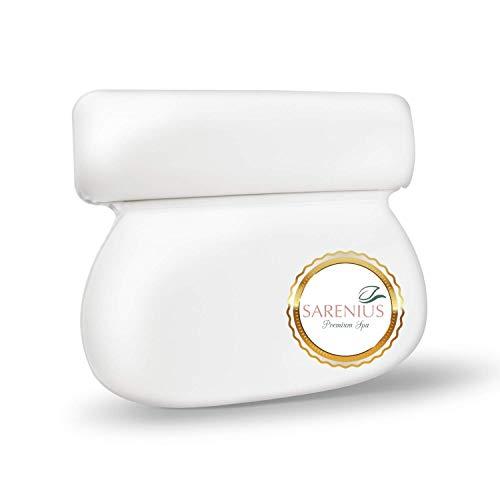 Premium Badewannenkissen mit starken Saugnäpfen. Nackenkissen für Badewanne mit optimalem Liegekomfort. Wasserabweisend, leicht zu reinigen, schnelltrocknend.