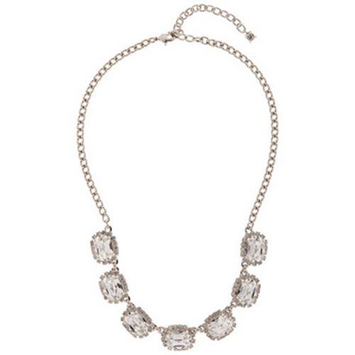 Martine Wester Collar ovalado con piedra de cristal.
