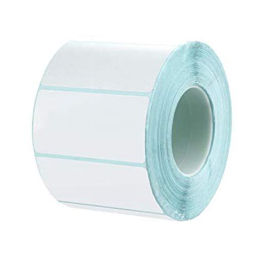 Maojuee Etiquetas Térmicas Rollo de 1000 Hojas Etiquetas Adhesivas Pegatinas 6 x 3 cm Etiquetas Multiuso de Nombre para Direcciones Congelador Carpeta - Etiqueta Rectangular Blanca de Identificación ✅