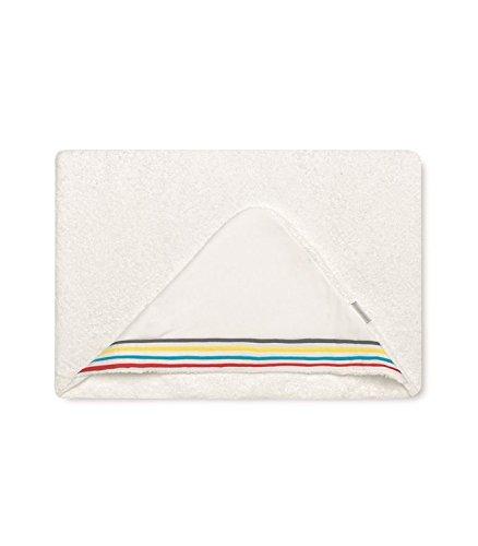 Bimbi 00740701 – Maxicapa Motif plumeti, 100 x 100 cm, couleur blanc