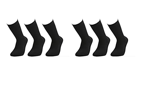 cesocks 6 Paar Bambus Socken (Viskose) - Atmungsaktiv und bequem, Männer und Frauen (43-46)