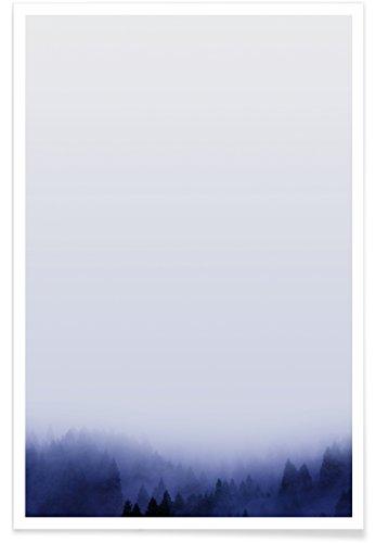 """JUNIQE® Himmel & Wolken Wälder Poster 20x30cm - Design """"Bluescape 1"""" entworfen von typealive"""