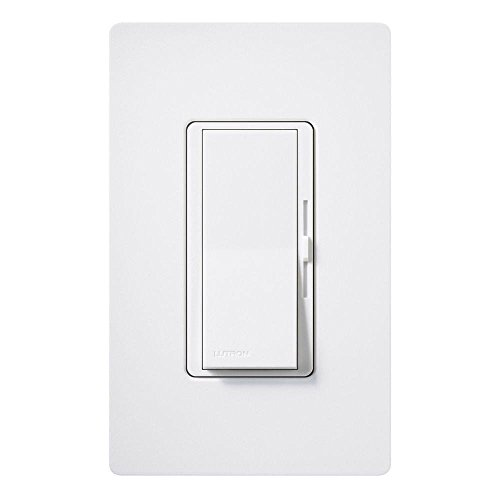 Lutron DVCL-153P-WH150W Diva Dimmable 3-Way CFL/LED Dimmer, White
