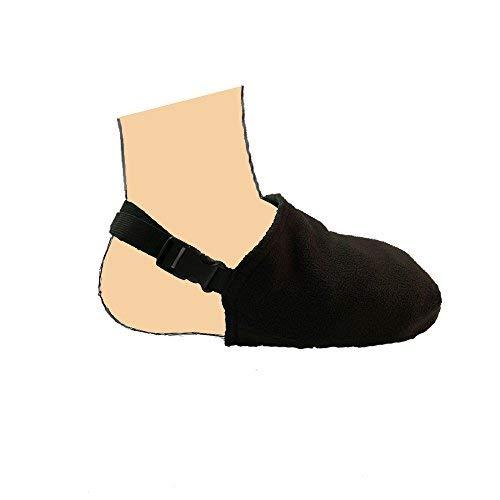 Funda de calcetín fundido, protector de puntera para patas, calentador ortopédico, funda de dedo del pie suave, compatible con soporte médico para caminar en el tobillo (negro)
