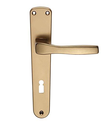 Home System Maniglia per Porta Interna Foro Chiave Interasse 90mm Alluminio Bronzato Serie Thea