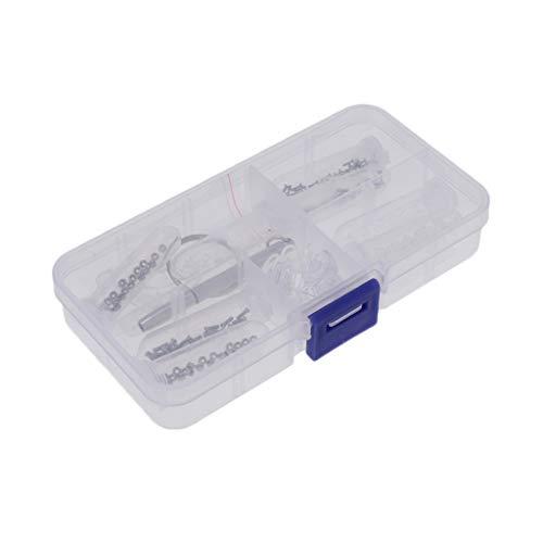 Hellery El Kit de Reparación de Anteojos con Tornillos Y Almohadillas Nasales para Gafas M1.2 M1.4 Incluye Un Juego de Destornilladores de Cabeza Almohadillas