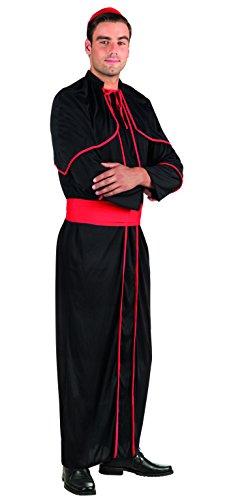 Boland- Cardinale Costume Adulto, Nero/Rosso, M/L, 83852
