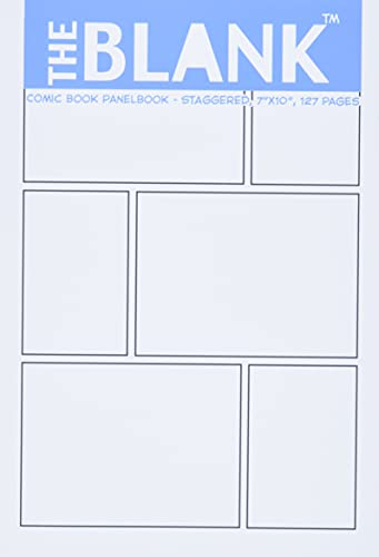 """The Blank Comic Book Panelbook - Staggered, 7""""x10"""", 127 Pages"""