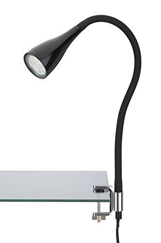 Briloner Leuchten LED Klemmleuchte, Klemmspot, Klemmlampe, Tischleuchte, Anklemmleuchte LED, Tischlampe, Nachttischlampe, Leselampe Bett, Wohnzimmer Tischlampen, Leseleuchte, flexibel