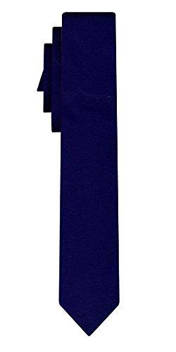 Cravate unie étroite solid navy VII /6cm