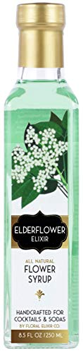 Floral Elixir Co. All Natural Syrup for Cocktails & Sodas (Elderflower)