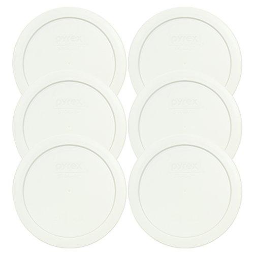 Pyrex 7201-pc redondo blanco 4Copa Almacenamiento Tapa para cuencos de cristal–6unidades