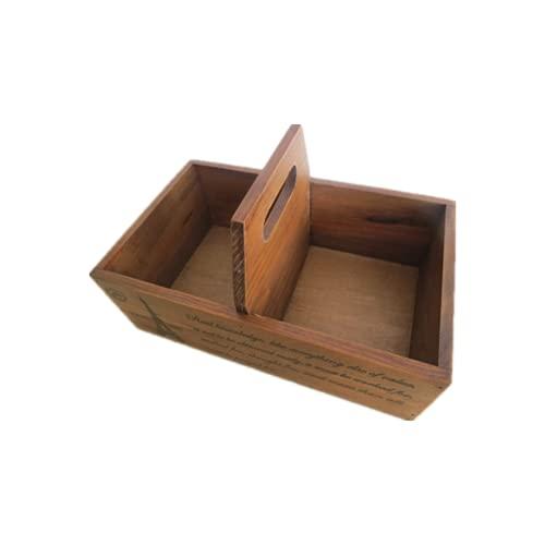 Caja de almacenamiento de joyería de madera multifuncional portátil de la rejilla 2, caja de almacenamiento de escritorio