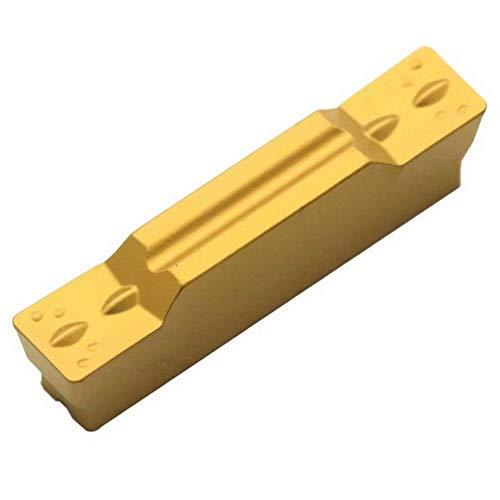 Maifix 10 piezas MGMN300-M ZP20 Acero indexable Corte de ranurado CNC Torno CNC Herramienta MGEHR Insertos de carburo de corte de ranura