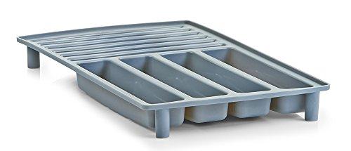 Zeller 24882 Égouttoir à vaisselle en plastique – couleur au choix gris