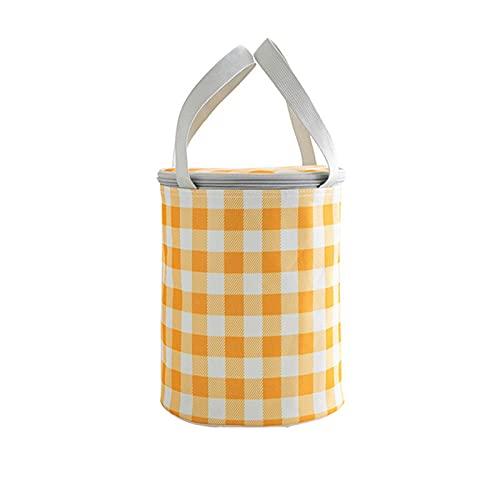 Bolsa de almuerzo simple y moderna para adultos aislada reutilizable para mujeres, hombres, trabajo, 9.1 x 6.3 pulgadas, aislamiento de papel de aluminio grueso de tela Oxford