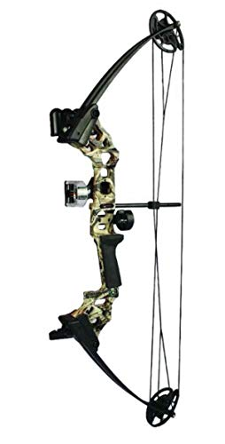 SA Sports Vulcan DX Youth Compound Bow, Adjustable Draw Weight and Length, Camo